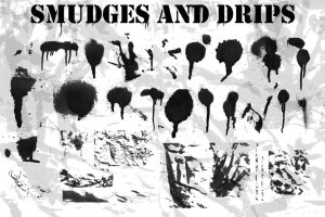 Paint Drips-Smudges Brush Set by luther1000