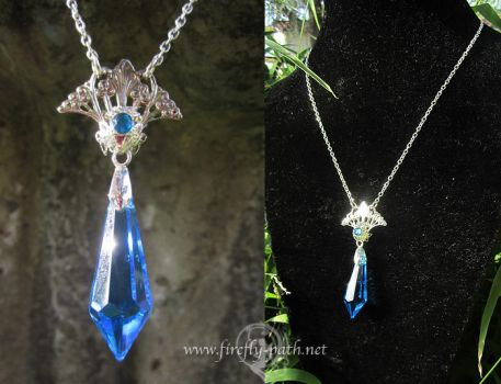 Celestial Crystal Necklace by Firefly-Path