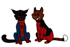 SpiderNight and DeadChester by sealkisses