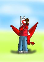 The Latias hug by VexxBlack