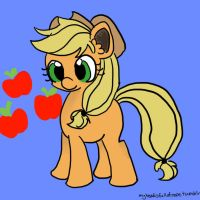 Applejack Doodle by mare-itime
