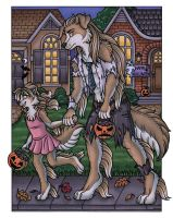 Laurie's Trick-or-Treat by kalika-futago