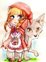 Chibi Little red riding hood by SimonneX