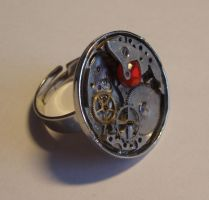 Steampunk jewellery ring 1 by crazydemonmoon