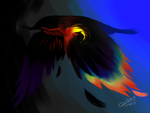 30 Day Monster Challenge - Day 20 - Rainbow crow by sp00ntane0us