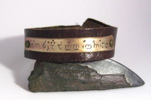 Elvish Script Cuff by Peaceofshine