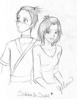 Sokka and Suki by eevee06121992