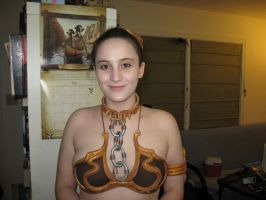 Leia Slave Costume (Half View, after hair) by Rodenkovia