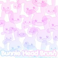 Bunnie Head Brushes by xlilbabydragonx