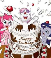 Happy (Belated) Birthday Medio-cre! by LigerStorm