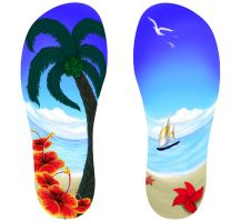 Beach Flipflops Design by francis-john