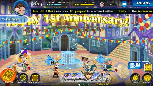 Happy 1st Anniversary from KHUX by SirSkullReed