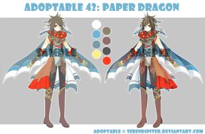 [CLOSED] Adoptable 42: Paper Dragon by Staccatos