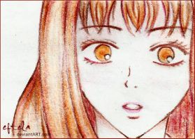 Sawako Color Pencil Sketch by eftela
