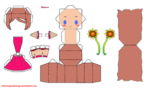 Papercraft MOTHER3 Hinawa by lettucegirlchristy