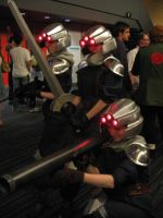 Shinra soldiers by Ifritmermaid