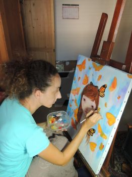 Painting butterflys... by Pistachette