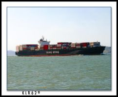 Cargo Ship in The Bay by KLR620