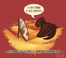 Smaug's Daily Affirmations by Clouded-3D