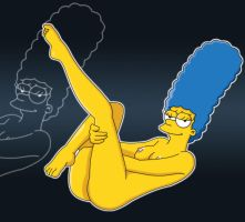 Marge Sexy Pin-Up by PervyAngel