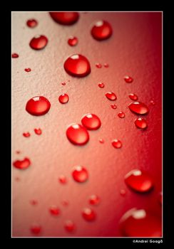 Water Droplets Red by GX10