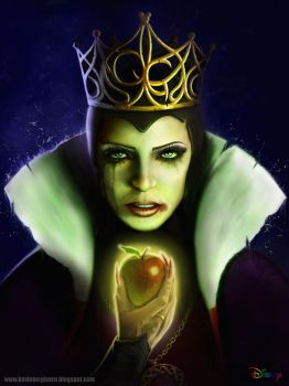 Snow White Evil Queen re-designed by kevmcgivernart