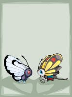 Butterfree and  Beautifly by experimental-thing