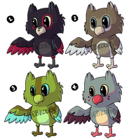 Cute lil' Owlet Adoptables! [CLOSED] by BROOKSlE