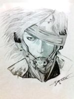 Metal Gear Rising -Raiden portrait by johnnyrider