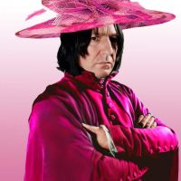 Snape in Pink by phoenixfyre6967