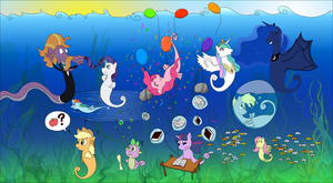 [MLP] Seaponies group picture by UltraTheHedgetoaster