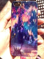 Tangled lights (Disney) handmade iphone 5 case by Saloscraftshop