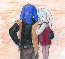 Luro and his Wife by Nebulan