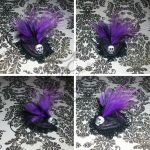 Doll Victorian Fascinator Hat-SPOOKY by spookyspinster