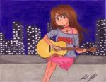 Guitar colored by 7penguinprincess7