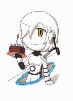 Chibi GLaDOS Portal 1 by animeandrew1
