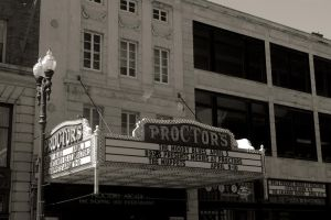 Proctor's Theater Marquee (Side View) by KWilliamsPhoto