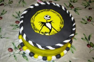 Nightmare Before X-mas Cake 1 by Jennfrog
