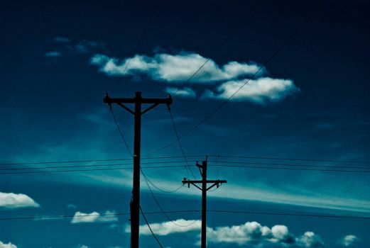 The power lines by ericabadass