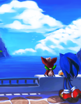 Sonic and Chip by Hanybe