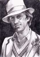 Peter Davison as the Fifth Doctor Who by Kate-Murray