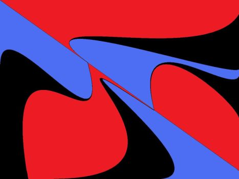 red black and blue by BooGoose