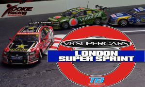 V8 Supercars 2014 - London Super Sprint Poster by TeamBombersports