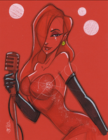 Warm Up 2, 12-31-2013 Jessica Rabbit by Hodges-Art