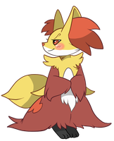 Delphox by noewel