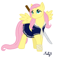 Sucker Punch Fluttershy WIP 2 by DippyWerewolf