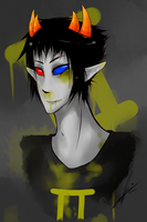 Sollux: bleed everywhere by kira-Iru