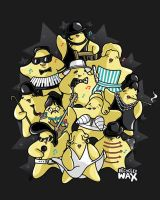 Superstars by recycledwax