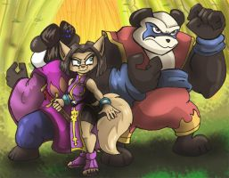 Panda King and Mai Ling by shinragod