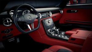 Mercedes SLS AMG Interior by DistortedImagery